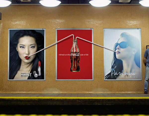 بیلبورد تبلیغاتی کوکا کولا