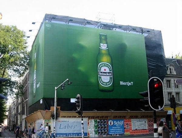 بیلبورد سه بعدی Heineken