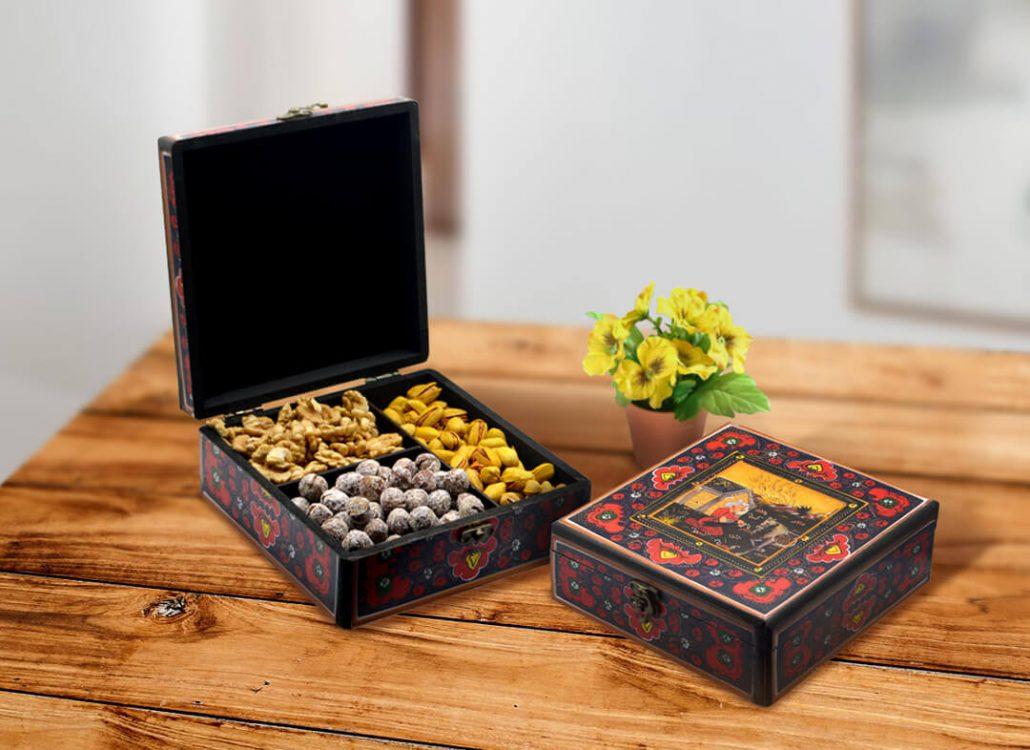 جعبه چوبی خشکبار (آجیل خوری)