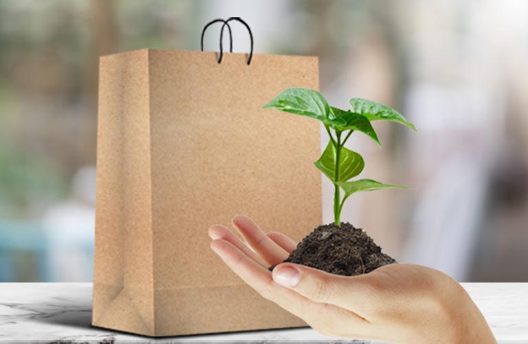 ساک دستی کاغذی آماده دوستدار محیط زیست